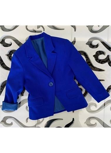 Hilal Akıncı Kids Kiz Çocuk Renklı Blazer Ceket Saks